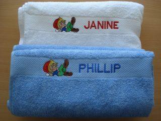 # bestickung #handtuch für Kindertagesheim. #sticken #veredelung