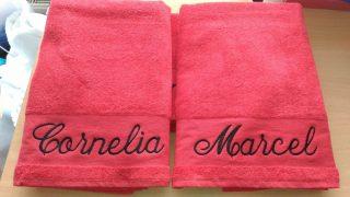 #bestickung #handtuch für Geschenk. #sticken #veredelung